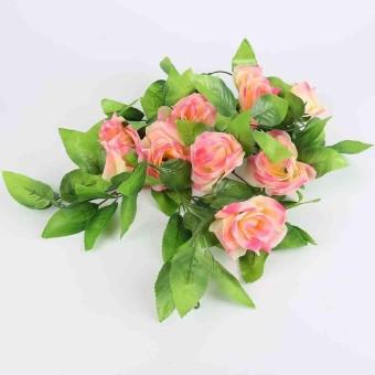 Rose Bunga Vine Sutra Buatan Daun Pernikahan Tanaman Palsu Dedaunan Plastik  2.4 M-Intl 1c39ac70f4