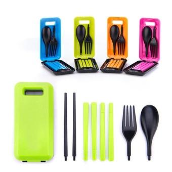 Kado Unik-- Sendok Garpu Sumpit Travel Portable / Sendok Makan Travel Satu Set