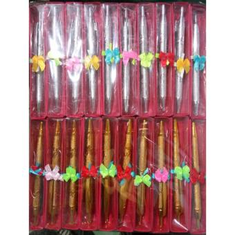 Souvenir Pernikahan Pulpen Mix Gold Silver Box Isi 100 Pcs
