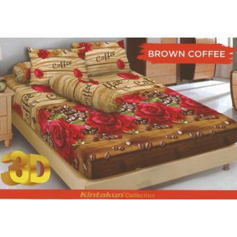 Sprei KINTAKUN DLUXE Motif BROWN COFFEE King Size 180 x 200 cm