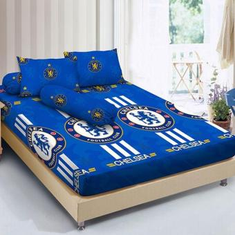 Sprei Kintakun Dluxe Motif THE BLUES Ukuran 120 x 200 Extra Single Size