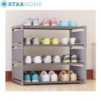 StarHome Rak Sepatu Portable 4 Susun Onde - 4 Tiers Shoe Rack
