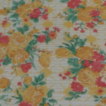 Wallpaper Lokal Motif Beauty Floral Orange