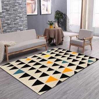 Bisa Dicuci Geometris Tikar Karpet Antislip Meja Teh Karpet Rugs Sofa Yoga Mat Soft Bedside Footcloth