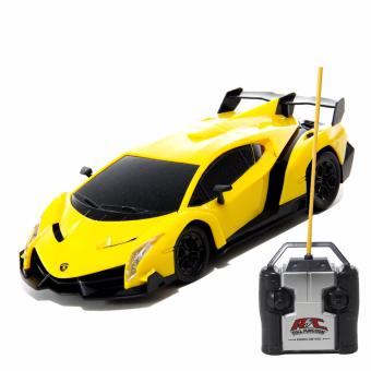 AA Toys Powerful Top Speed Model Car Racing Kuning 1:24 RC - Mainan Mobil Remote Control BO
