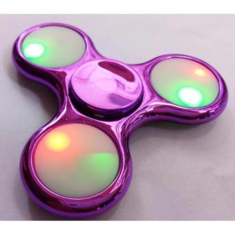 AIUEO - Fidget Spinner LED New Exotic Hand Toys Mainan Tri-Spinner EDC Focus Games