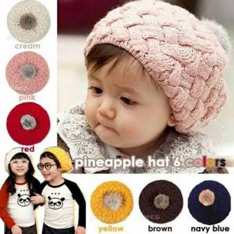 Baby Talk - Pineapple Hat - Topi Rajut Motif Nanas Untuk BayiBalita dan Anak Lucu Import