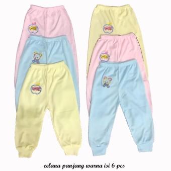 6 Pcs Celana Panjang Anak Bayi Polos Cowok Cewek Laki Laki Perempuan ... 14273ee4d0