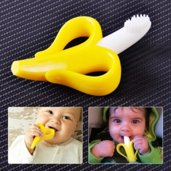 cute baby kids Teether Banana / CORN - Sikat Gigi Bayi Bentuk Pisang / JAGUNG