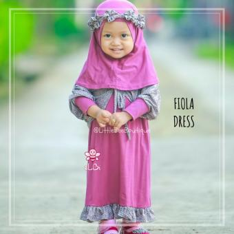 Elbi Fiola Dress by Little Bee Boutique / Baju Muslim Anak Balita / Baju Bayi /