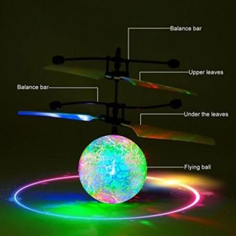 Flying Ball / helicopter Quadcoper Drone Sensor Tangan Toy Mainan Anak Terbang - Bola - hazzid_