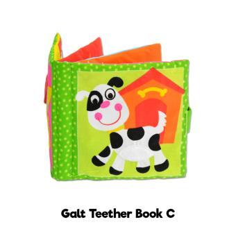 Galt Soft Teether Book   Buku Bantal Gigitan Bayi - Mainan Bayi - Kode C 425bb14dbf