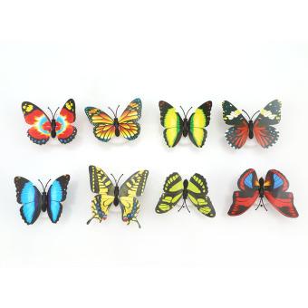 HengSong 10 Buah Berubah Warna Multi These Butterflies Memimpin Cahaya Malam Dekorasi Rumah Lampu