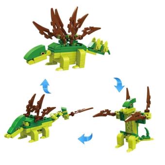 harga Cogo Dino Stegosaurus 3 in 1 3008-3 - Mainan Edukasi Block Dinosaurus Stegosaurus Lazada.co.id