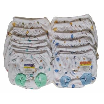 Jelova Baby Angela 12pcs Selusin Celana POP Aby Baby Bayi Print Animal - Mix Warna Recommended