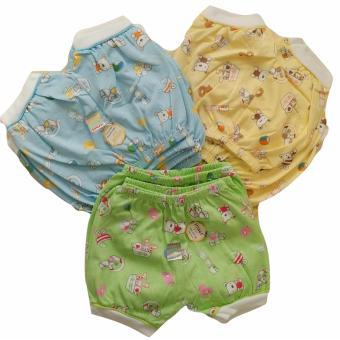 Jelova Baby Angela Selusin Celana Pendek Baby Bayi Usagi PRINT ANIMAL Mix Warna- 12pcs -
