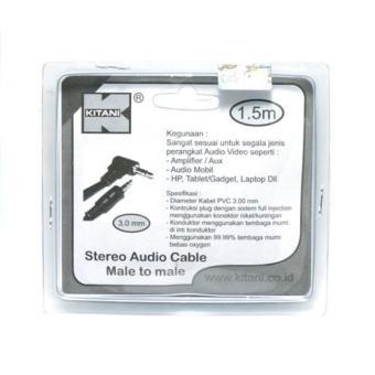 Kabel Audio Stereo Male To Male Jack 3-5 Mm Kitani 1-5 Meter