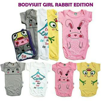 Kazel Bodysuit / Jumper Bayi Motif Rabbit Edition 4in1 - Size XXL