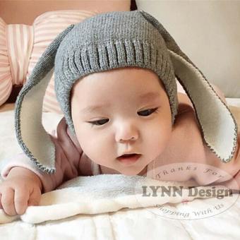 Lynn Design- Korean Topi kupluk rajut telinga kelinci bayi balita anak 0-3 tahun