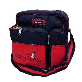 Lynx Candy Tas Bayi Baby Scots Medium - Baby Embroidery Medium Bag- Biru