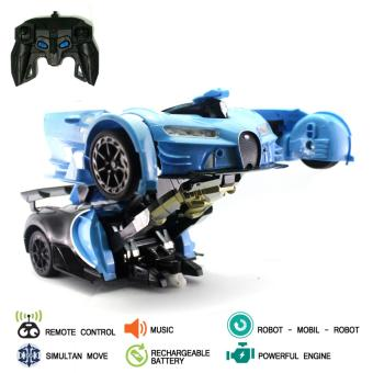 Mainan Mobil Remote Control RC Transformer Autobots
