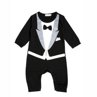 Bayi Girls Renda Decor Baju Monyet Sleeveless Fashion Indah Sablon Jumpsuit-Intl. Source ·