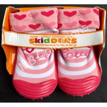 Skidder Sepatu Bayi / Sepatu Karet Bayi / Skidder Sepatu Motif 3D Love Merah Uk 22