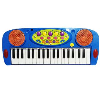 ... Toylogy Mainan Alat Musik Piano Anak Biru Electronic Organ Multifunction 3702A Blue