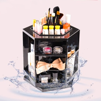 360 Degree Rotating Makeup Organizer Cosmetic Storage Display Box Make Up Rack Beauty Care Holder (
