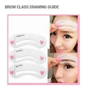 ... isi 3 pola / mini brow class guide / cetakkan ... Source · Alat Pencetak Pembentuk Alis Korea Cetakan Alis Alat Bantu Gambar Alis
