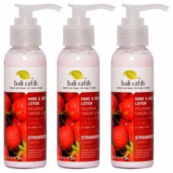 Bali Ratih - Paket Body Lotion 110mL 3pcs - Strawberry