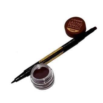 Landbis Eyebrow Gel 3 in 1 + Eyeliner + Brush - Natural Brown