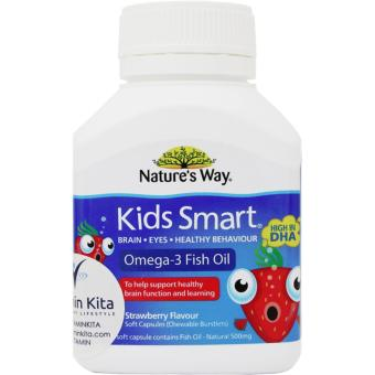Natures Way Kids Smart Omega 3 + Fish Oil Strawberry - 50 Caps