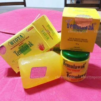 Original Impor Paket Cream Temulawak Whitening Cream Emboss (Day+Night) + Sabun Temulawak