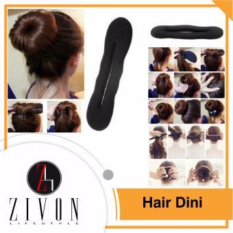 [PROMO] 2 Pcs Hairdini Hair Dini Spon Cepol Kuncir Gulung Rambut Ikat Donat YZF73
