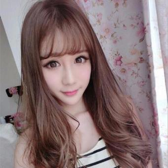 Korea Selatan Wig Fashion Rambut Wanita Long Curly Rambut (coklat Muda)-Intl 3934f54e8c