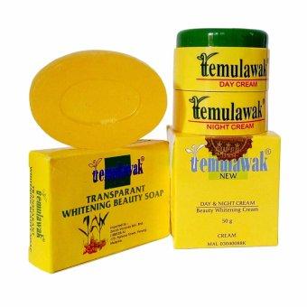 Temulawak Cream Original Malaysia + Sabun Oval Asli