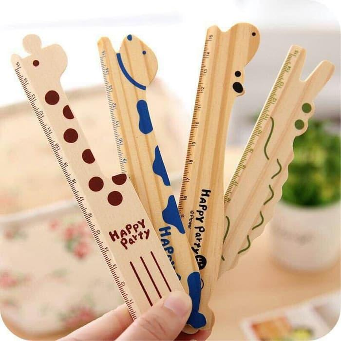 Penggaris kayu / Bookmark wooden ruler