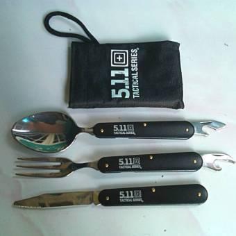 ... Set Alat Jahit Portable Peralatan Makan 1 Paket/. Source · 511 Sendok Garpu Pisau Camping Silver Hitam