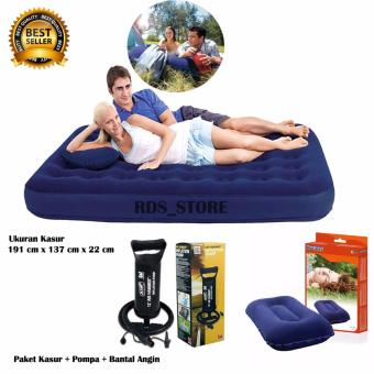 Bestway Kasur Angin Double + Pompa + Bantal Angin