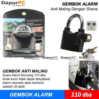 Tokokadounik 2 In 1 Gembok Alarm Motor Rumah Free Baterai Harga Source · Gembok Alarm Anti Maling Kunci Pengaman Motor Rumah Pagar