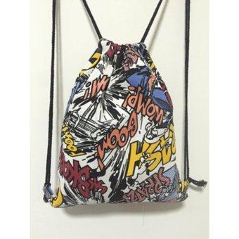 Harajuku Shoulder Tas Baru Sederhana Canvas Bag Tas Ransel Sederhana Kasual  Backpack Pria dan Wanita Tas 582cbc68af