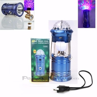 Lampu Lentera Disco Camping 4in1 : Lentera, Lampu Disco, Senter & Power Bank
