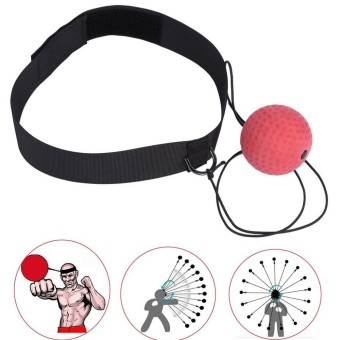 MagiDeal Boxing Fight Ball Speedball with Head Band for Reflex Speed Training Punching Fitness Equipment -