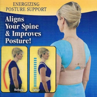 5a0fc900a Royal Postur Meluruskan Tulang Belakang Back Brace Support Garment Royal Posture  Back Support Brace (Ukuran