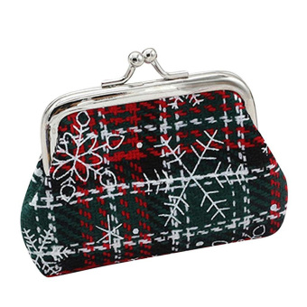 3.5 Inch Christmas Small Wallet Holder Coin Purse Clutch HandbagBag 2# - intl