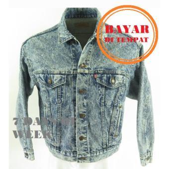 7dayofweek - jaket jeans denim premium sandwash pria // best seller