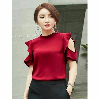 AK - Blouse Sherla - Red Akiko Fashion