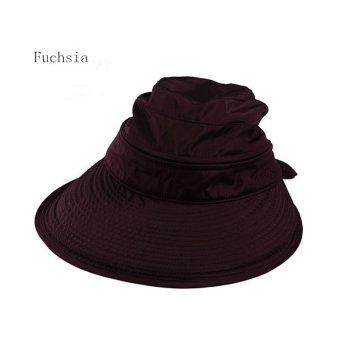 Amart Fashion Ikatan Simpul Besar Musim Panas Pantai topi pelindungsinar  matahari  Fuchsia) 27184acf35