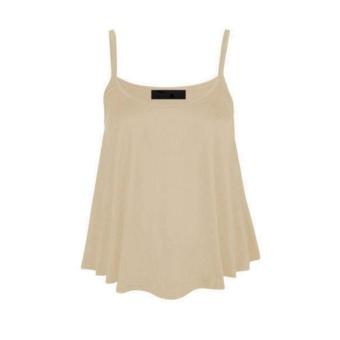936a19897065 Amart Fashion Summer Women Beach Vest Tank Shirts Sleeveless Strap Chiffon  Casual Loose Crop Tops(